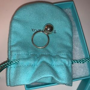 Tiffany Sterling Silver Ball Ring